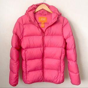 Joe Fresh Puffer Down Hoodie Pink Coat